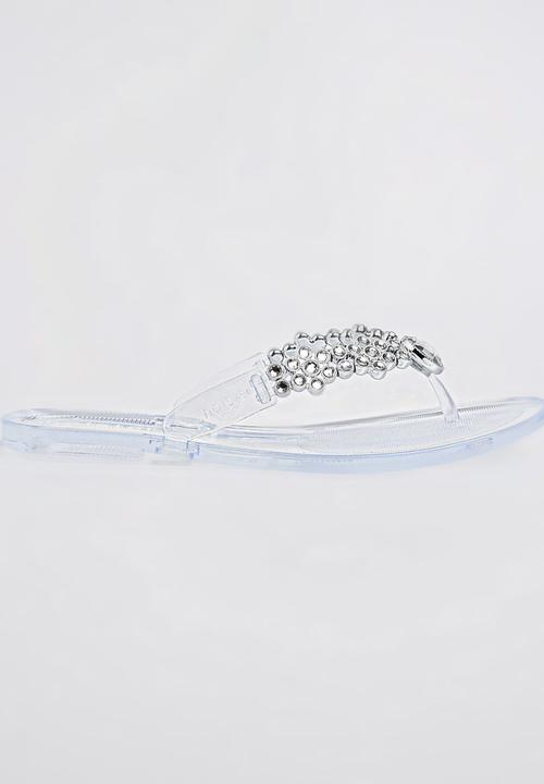 1ac0965db Jelly Diamante Sandals Clear Holster Sandals   Flip Flops ...