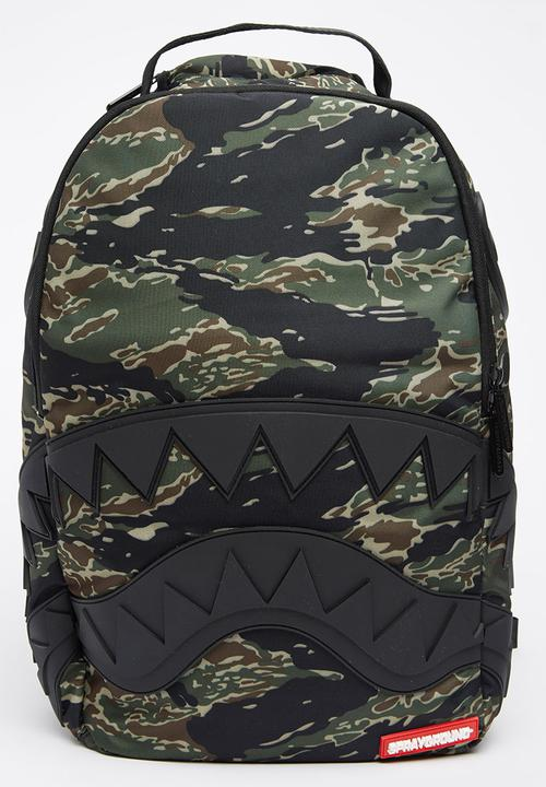 3cc9795e7d Tiger Camo Backpack Khaki Green Sprayground Bags   Wallets ...