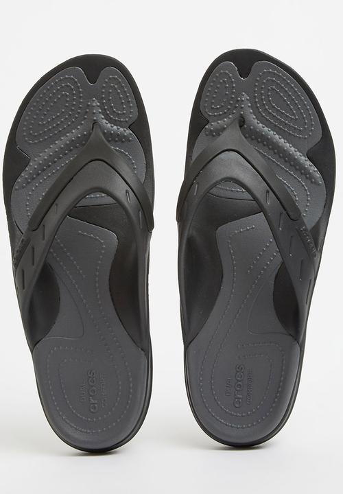 ed663dd87 Cros Modi Sport Flip Flop Black Crocs Sandals   Flip Flops ...