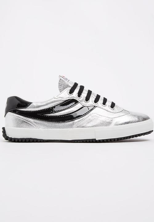 Stripe Metallic Sneakers Silver SUPERGA