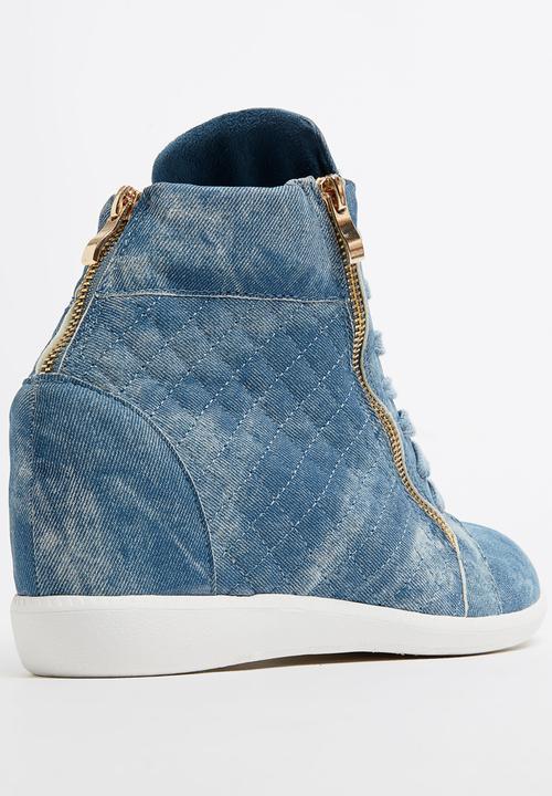 Christy Wedge Sneakers Mid Blue Sissy
