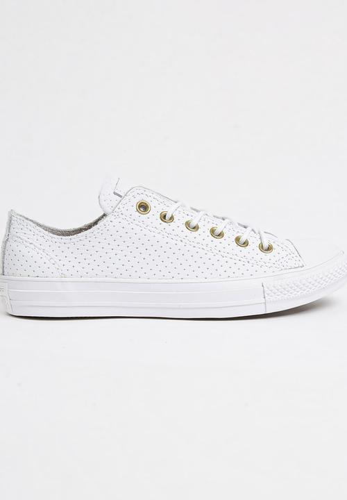 60c44aabe Leather Chuck Taylor All Star Low White Converse Sneakers ...