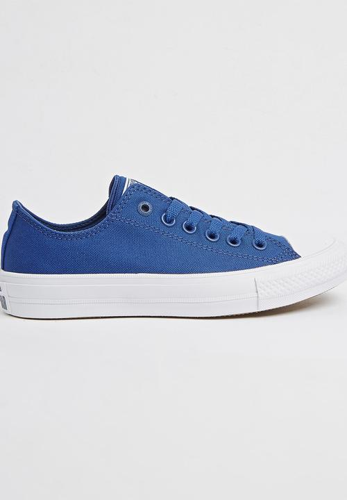 a0a98ca19cb43 Chuck Taylor All Star II Low Blue Converse Sneakers