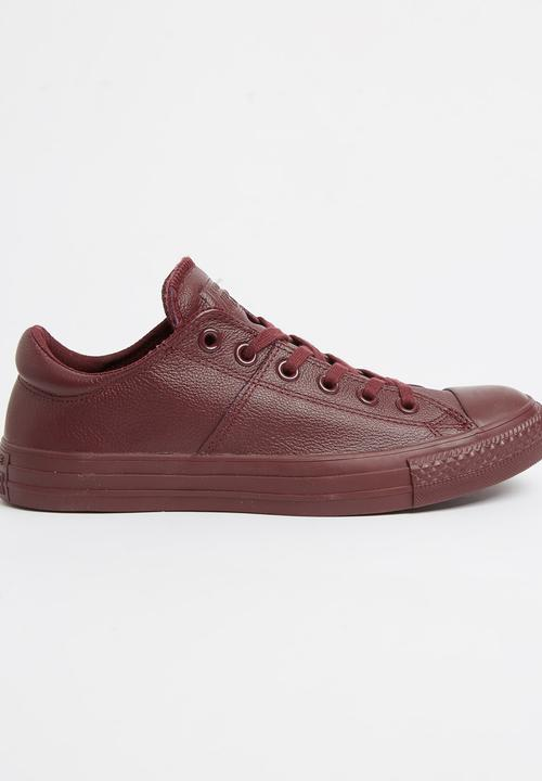 27110b828f57 Leather Chuck Taylor All Star Hi Dark Purple Converse Sneakers ...