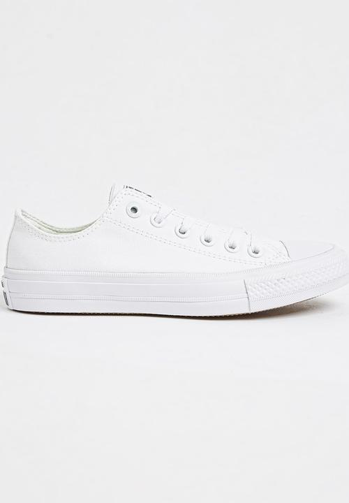 411257b74dbe Chuck Taylor All Star II Low White Converse Sneakers