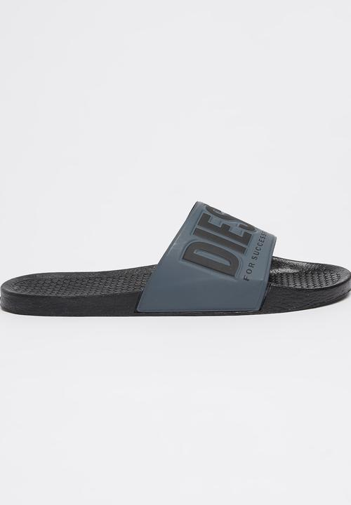 4df84fa5d713 Diesel Freestyle Sandals Grey Diesel Sandals   Flip Flops ...