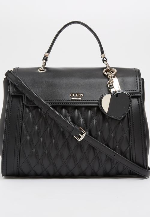 9fcf077750 Marisa Top Handle with Flap Bag Black GUESS Bags   Purses ...