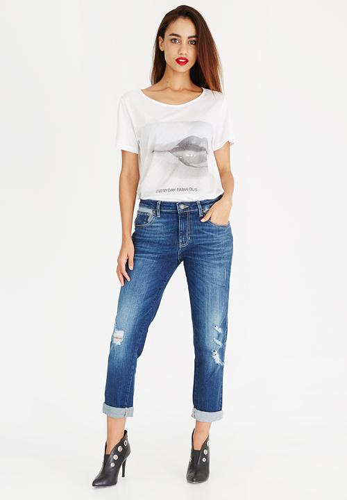 a7373bbbca055 Classic Boyfriend Jeans Dark Blue GUESS Jeans   Superbalist.com
