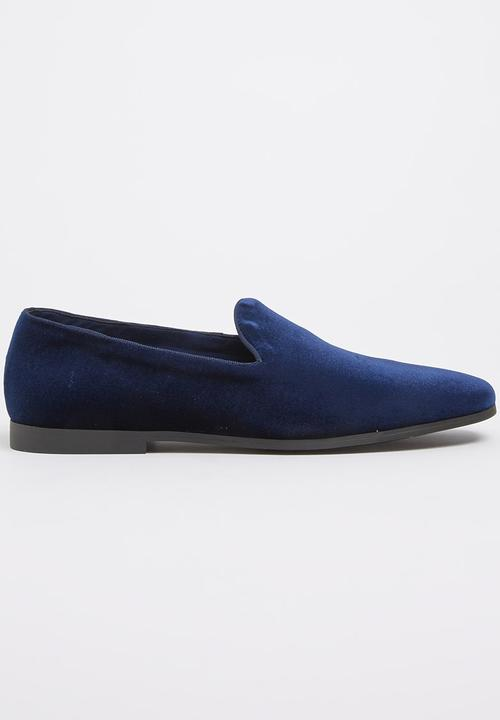 6c3dc6aa3bf25c Paul of London Velvet Silp-On Shoes Navy Paul of London Formal Shoes ...