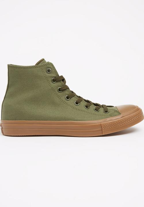 e361a3c36da820 Converse - Chuck Taylor All Star II Tencel Canvas Hi Sneakers Khaki Green
