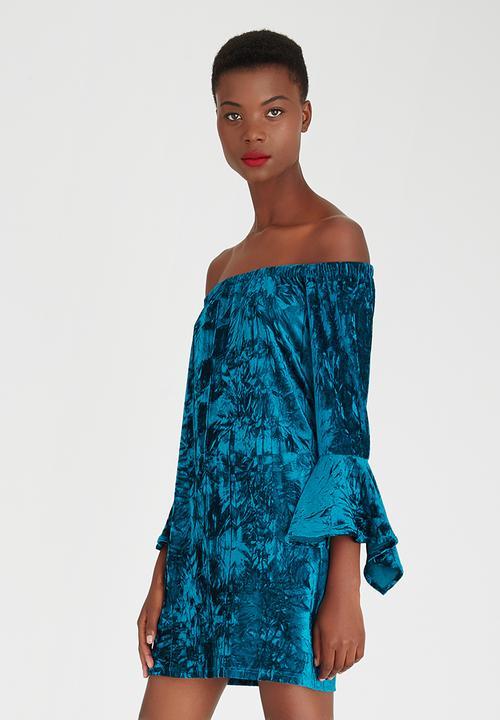 480d64b6ab78 Bardot Bell Sleeve Dress Mid Blue STYLE REPUBLIC Formal ...