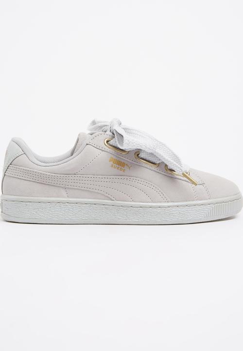 online retailer 736f7 3f93d Puma Suede Heart Satin Grey