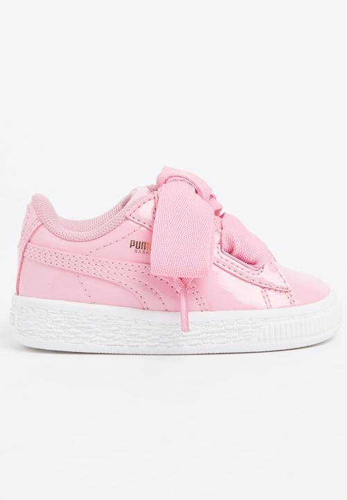 best service 33335 19640 PUMA - Basket Heart Patent Sneaker Mid Pink
