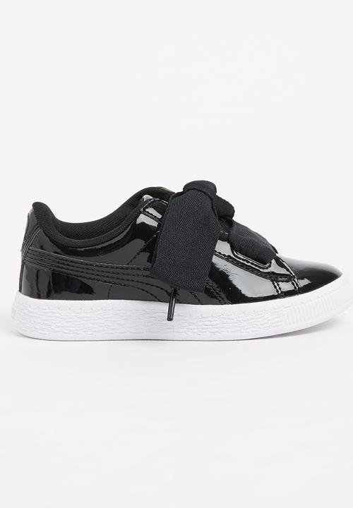sports shoes c0197 7a4a2 Basket Heart Patent Sneaker Black