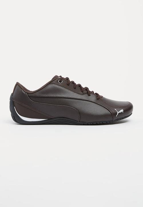 Leather Drift Cat 5 Core Sneakers Dark Brown