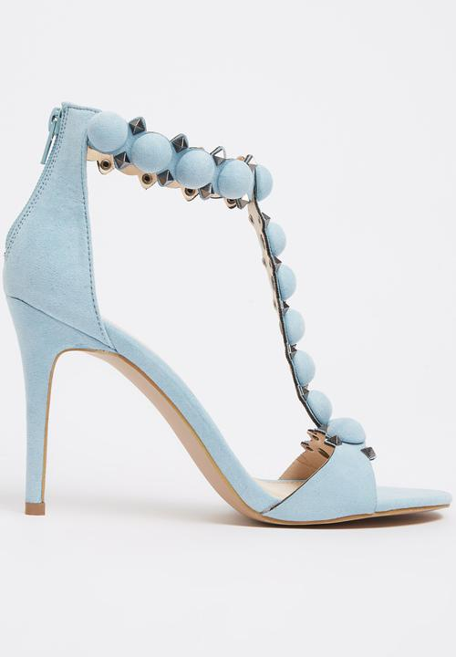 promo code 2d9a6 92415 Miss Black - Slim T-bar Heels Blue
