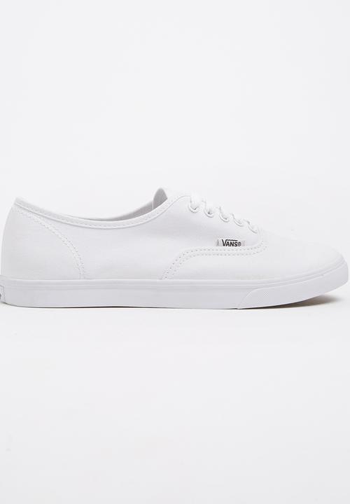 2f4fc6ed54 Authentic Lo Pro White Vans Sneakers