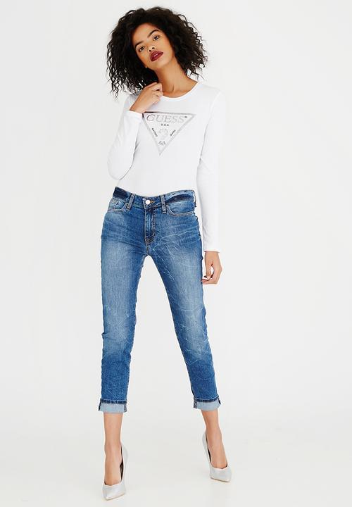 huge sale cheapest lovely design Guess Classic Boyfriend Jeans Blue