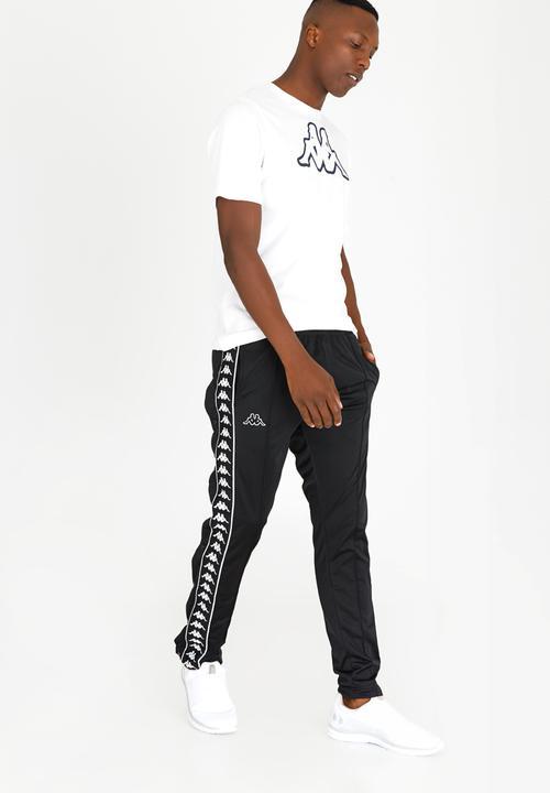 dc40d93a7617f4 222 Banda Astoria Snaps Trackpants Black KAPPA Pants   Chinos ...