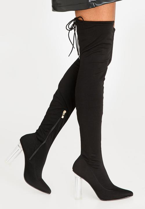 d24243ed642 Sorrento Block Heeled Thigh High Boots Black Dolce Vita Boots ...