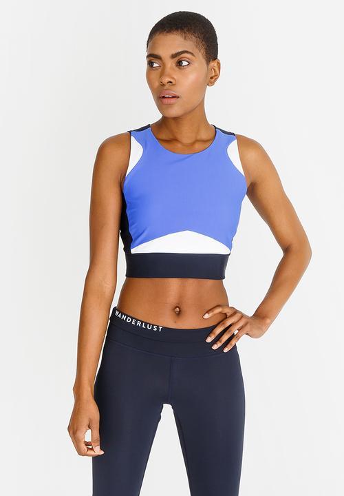 b4272bff1fb73 Yoga crop top - blue adidas T-Shirts