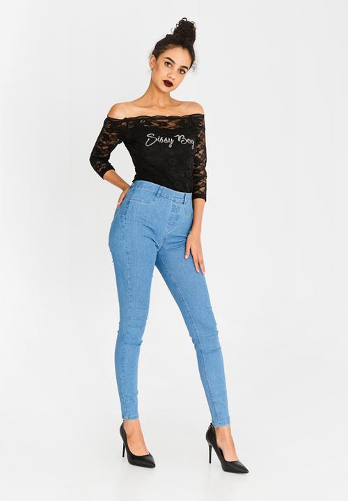 53b33cdb Franke High Rise Shaper Jegging Mid Blue Sissy Boy Jeans ...