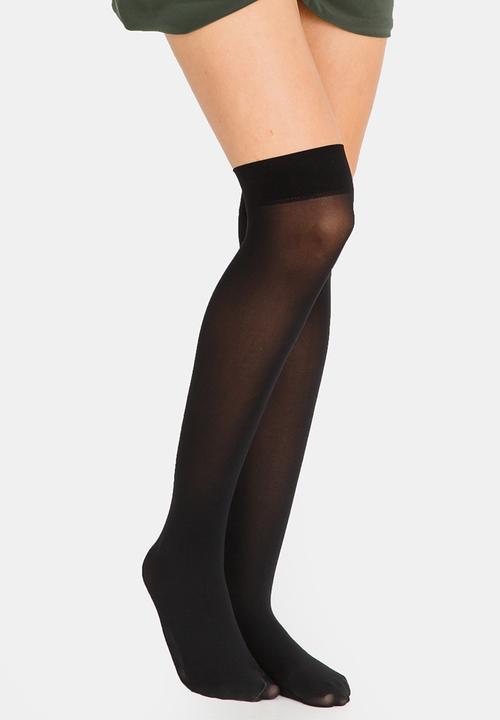 654aa33f9 Matt Knee-High Tights Black Falke Stockings   Socks
