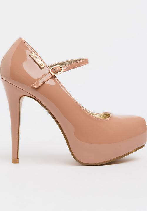 Patent Platform Mary-jane Camel Sissy Boy Heels