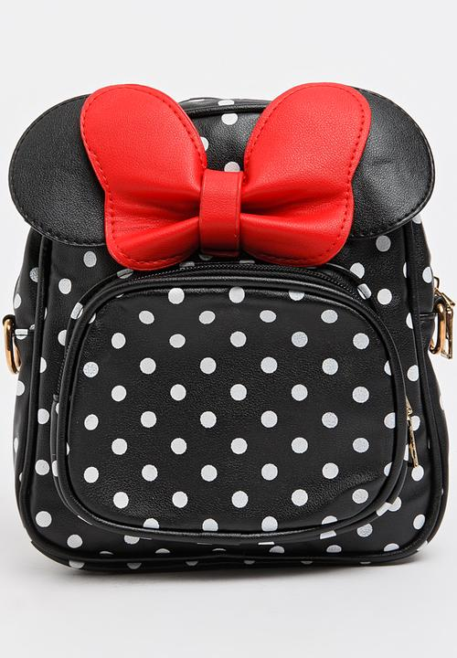 printed polka dot backpack black pop candy accessories superbalist com