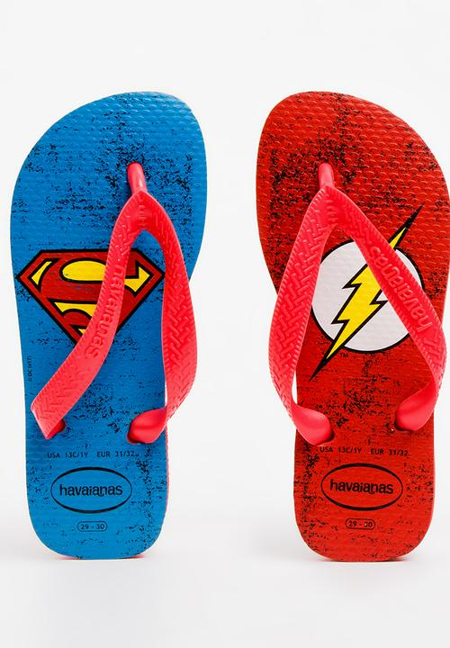 eea14f4c52887a Herois DC Flip Flops Red Havaianas Shoes