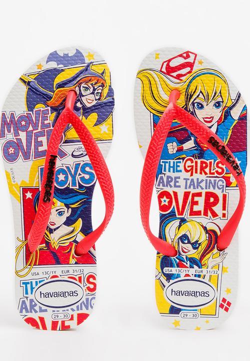 b904ae4fd875 DC Super Hero Girls Flip Flops Multi-colour Havaianas Shoes ...