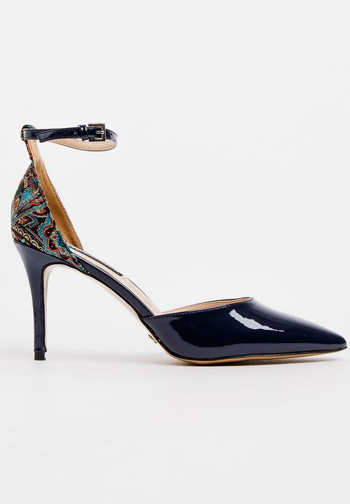 857f9505777 Jacquard Stiletto Heels Navy Cherry Collection Heels