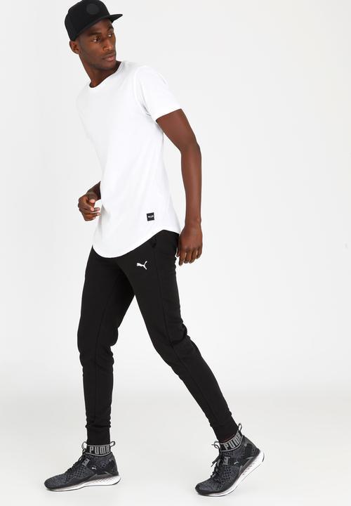 90643b1b3 Essential Sweat Pants Slim TR Cl. Black PUMA Sweatpants & Shorts ...