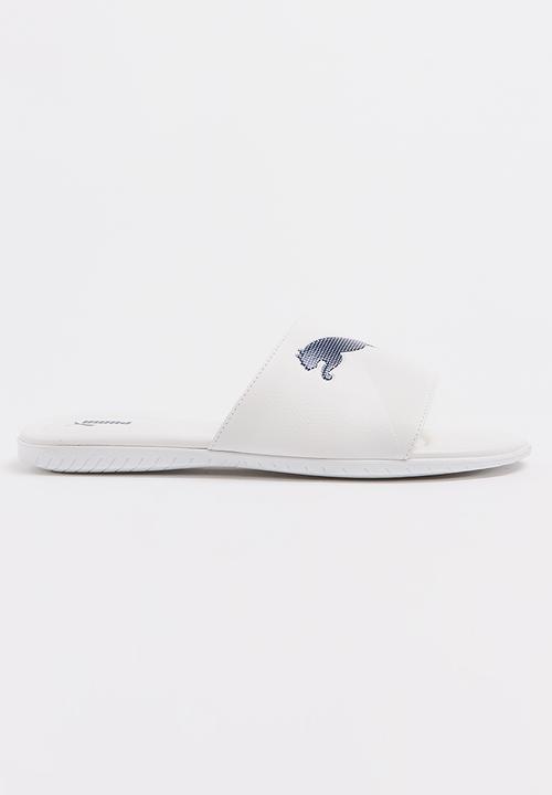 47530077a ATH Hurricane Slider Sandal White PUMA Sandals   Flip Flops ...