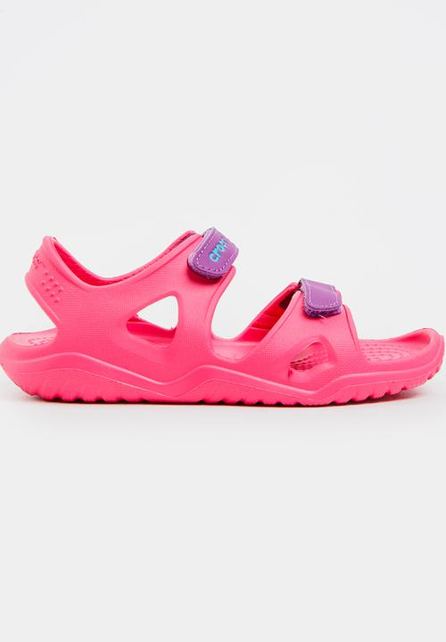 793a60484778 Swiftwater River Sandal Mid Pink Crocs Shoes