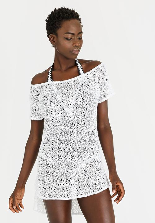 Crochet Swim Cover Up White Sissy Boy Kaftans Cover Ups