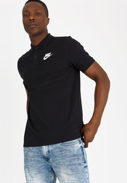 7d8b6dd2 NSW Polo Pique Matchup Black and White Nike T-Shirts & Vests ...