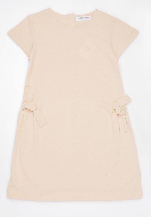 6bc1317d84a Shimmer Lurex Marl Fleece Dress Nude MINOTI Dresses   Skirts ...