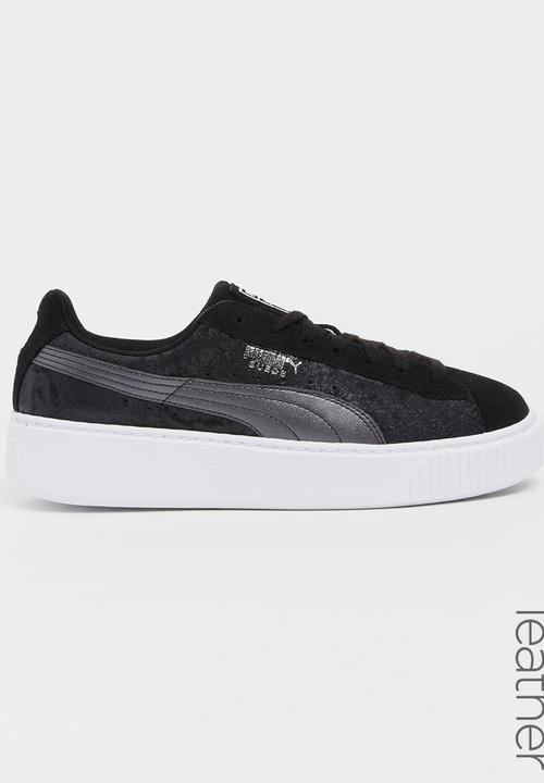 31b2ad45a4 Puma Suede Platform Safari Sneakers Black PUMA Sneakers ...