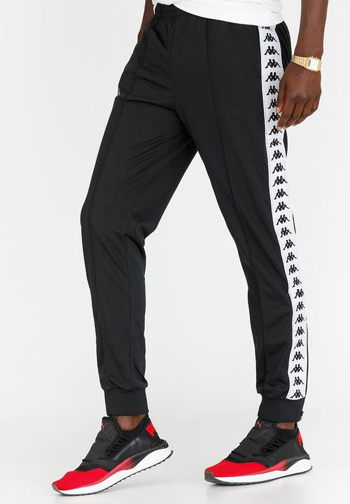 3fc2f40fdb Banda Astoria Trackpants Black and White KAPPA Pants & Chinos ...