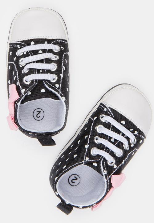 90c42cc80c Girls Spotted Hi Top Sneaker Black POP CANDY Shoes | Superbalist.com