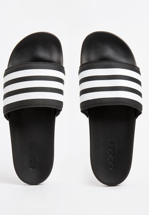 6ea397d8bf31 Adilette CF+ Slider Sandals Black and White adidas Originals Sandals ...