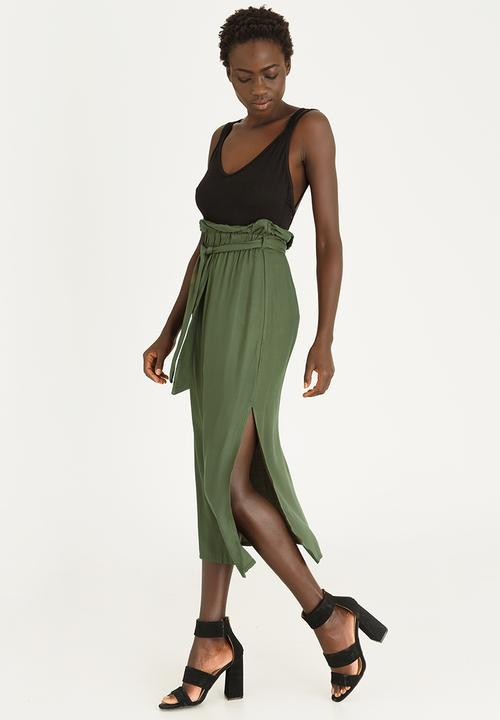 968e64851aae Paperbag Midi Skirt Dark Green STYLE REPUBLIC Skirts | Superbalist.com