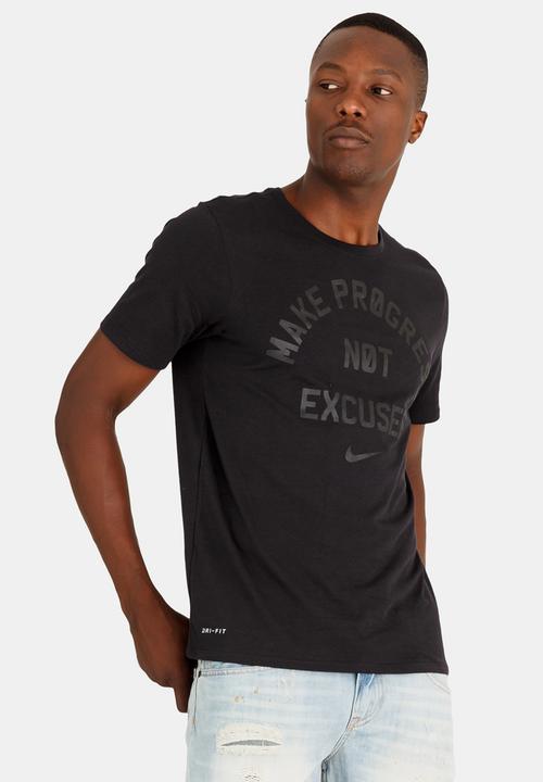 0ba5b4cab Nk Dry Tee Dfc No Excuses Black Nike T-Shirts | Superbalist.com