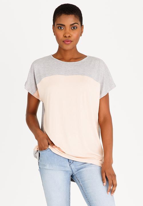 2c612936b6b Colour block top - grey   pink edit T-Shirts