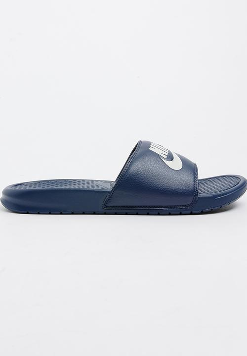 1a45939f0049 Nike Benassi Just Do It Flip Flops Navy Nike Sandals   Flip Flops ...