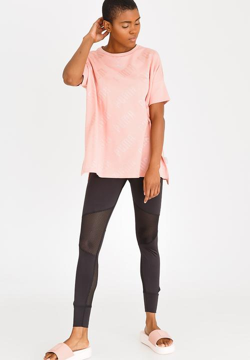 3a92653afb1cb0 En Pointe Wide Tee Pale Pink PUMA T-Shirts