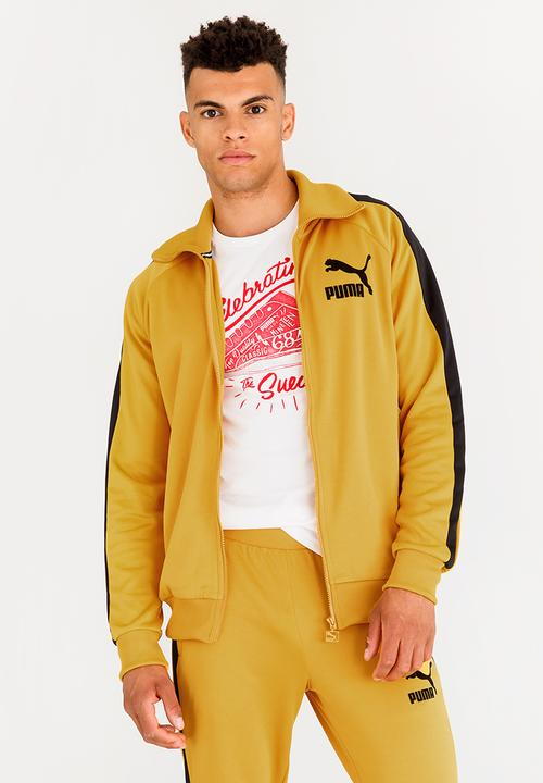 6d698df1a4c2 T7 Vintage Track Jacket Yellow PUMA Hoodies   Sweats