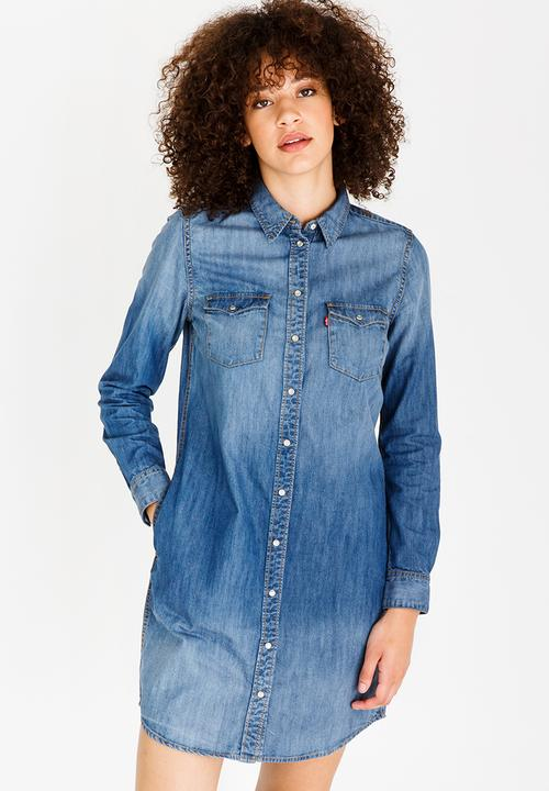 c32c10cba2d Iconic Western Dress Mid Blue Levi s® Casual