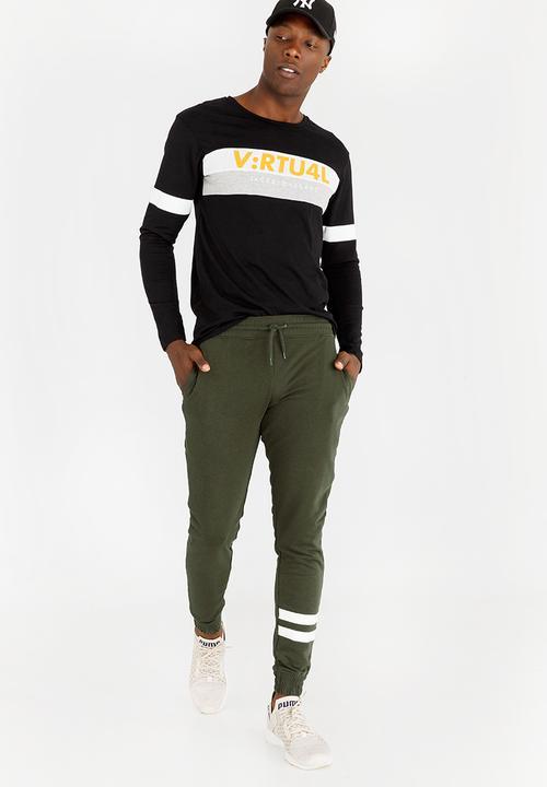 b164979fe43da0 Grant Sweatpants Khaki Green Only & Sons Pants & Chinos ...